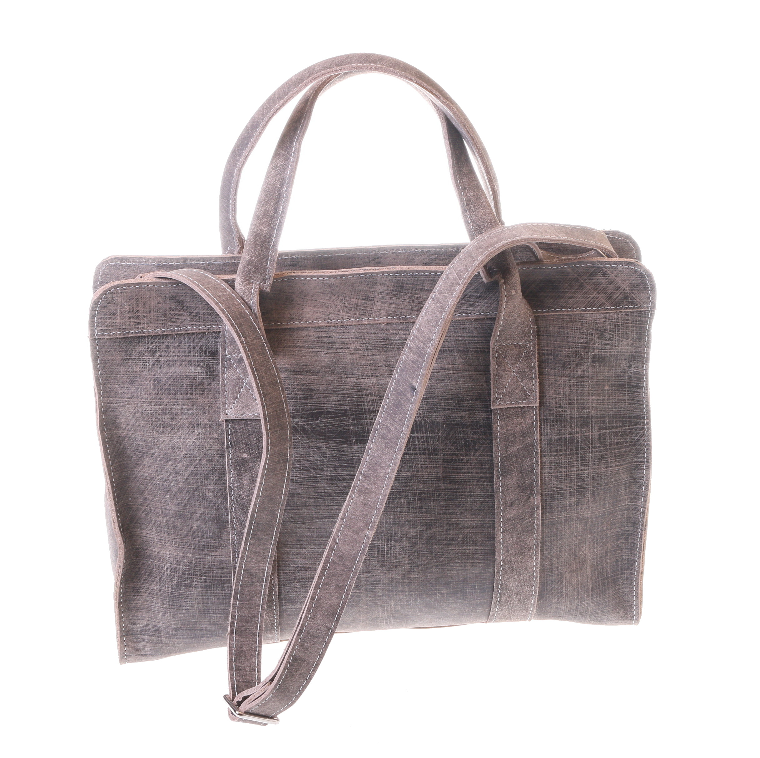 Gundara - cool grey-scratch handbag - fair & elegant - handmade in Ethiopia