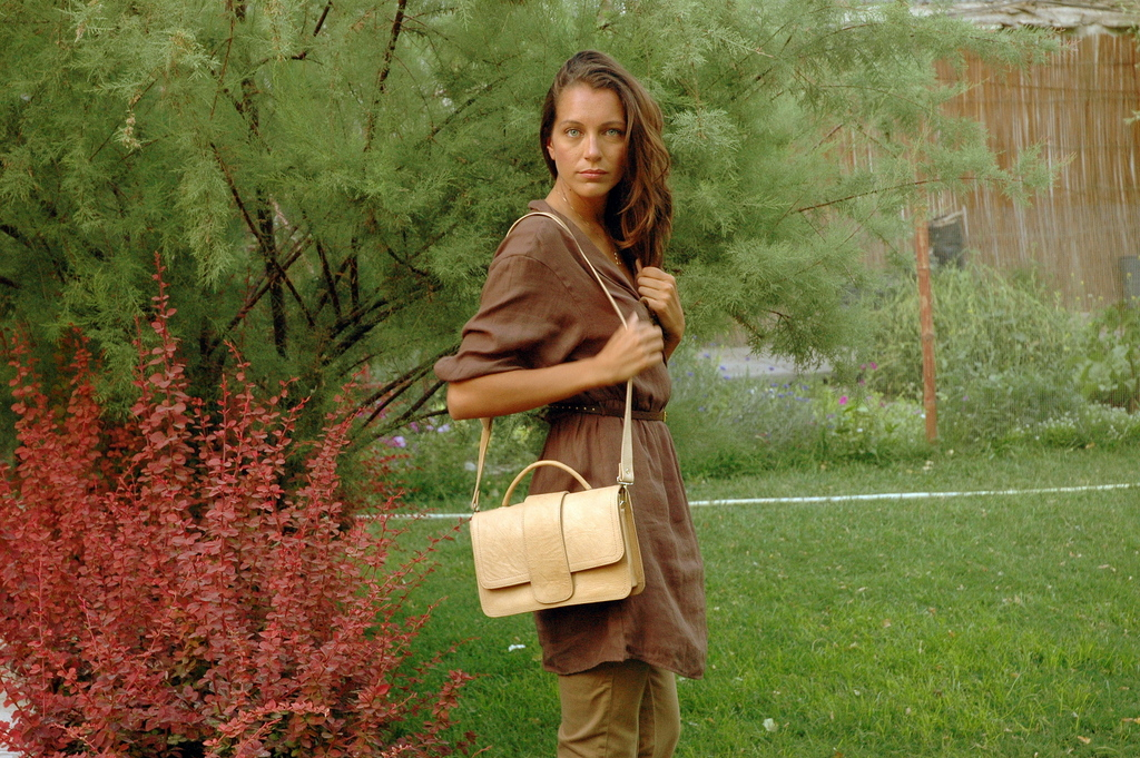 petit sac en cuir naturel - avec Sarah-Jean Cunningham - Gundara