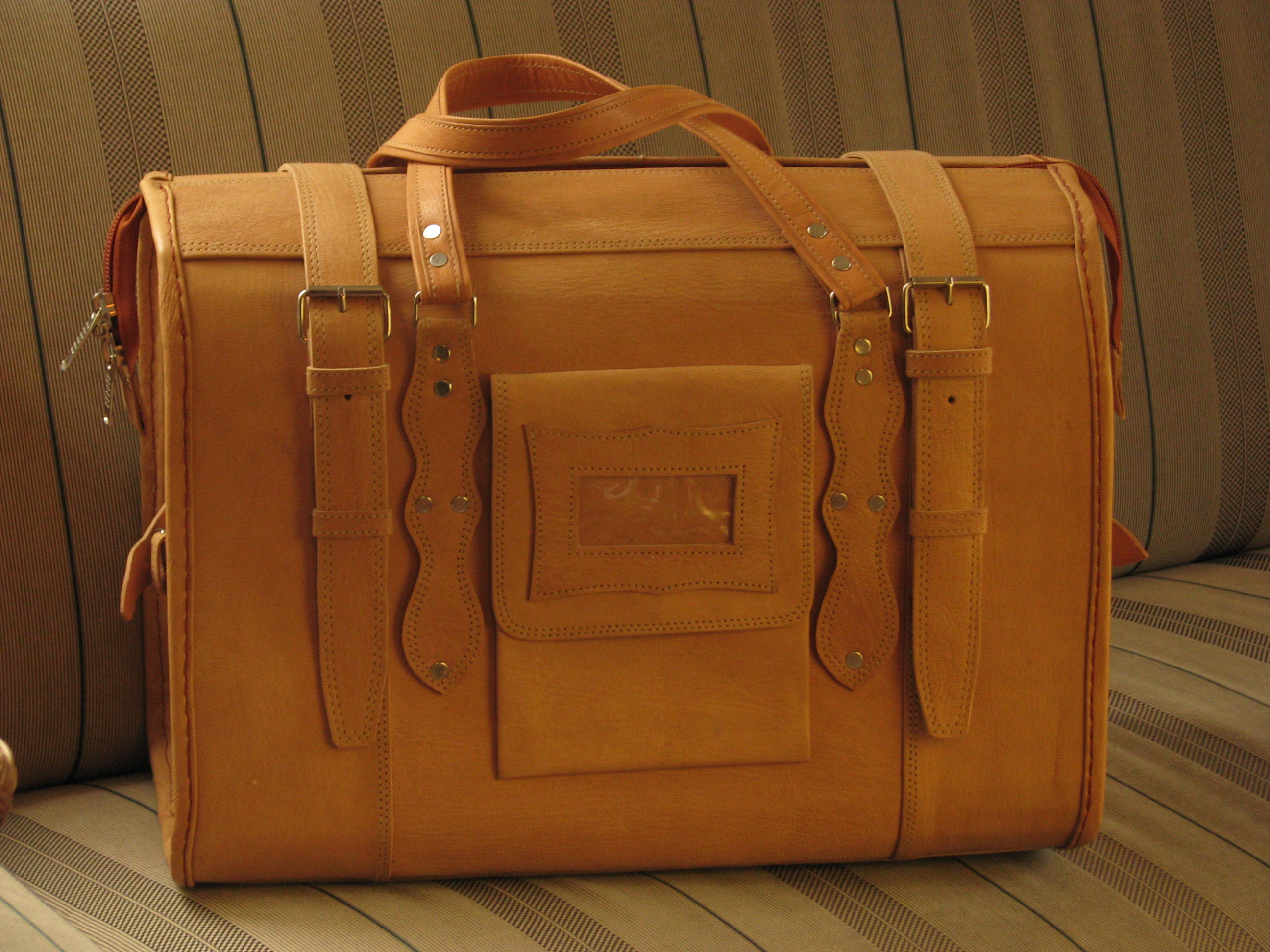 Cabin-Size Travel Bag Marco Polo - Genuine Leather Travel Bag ...