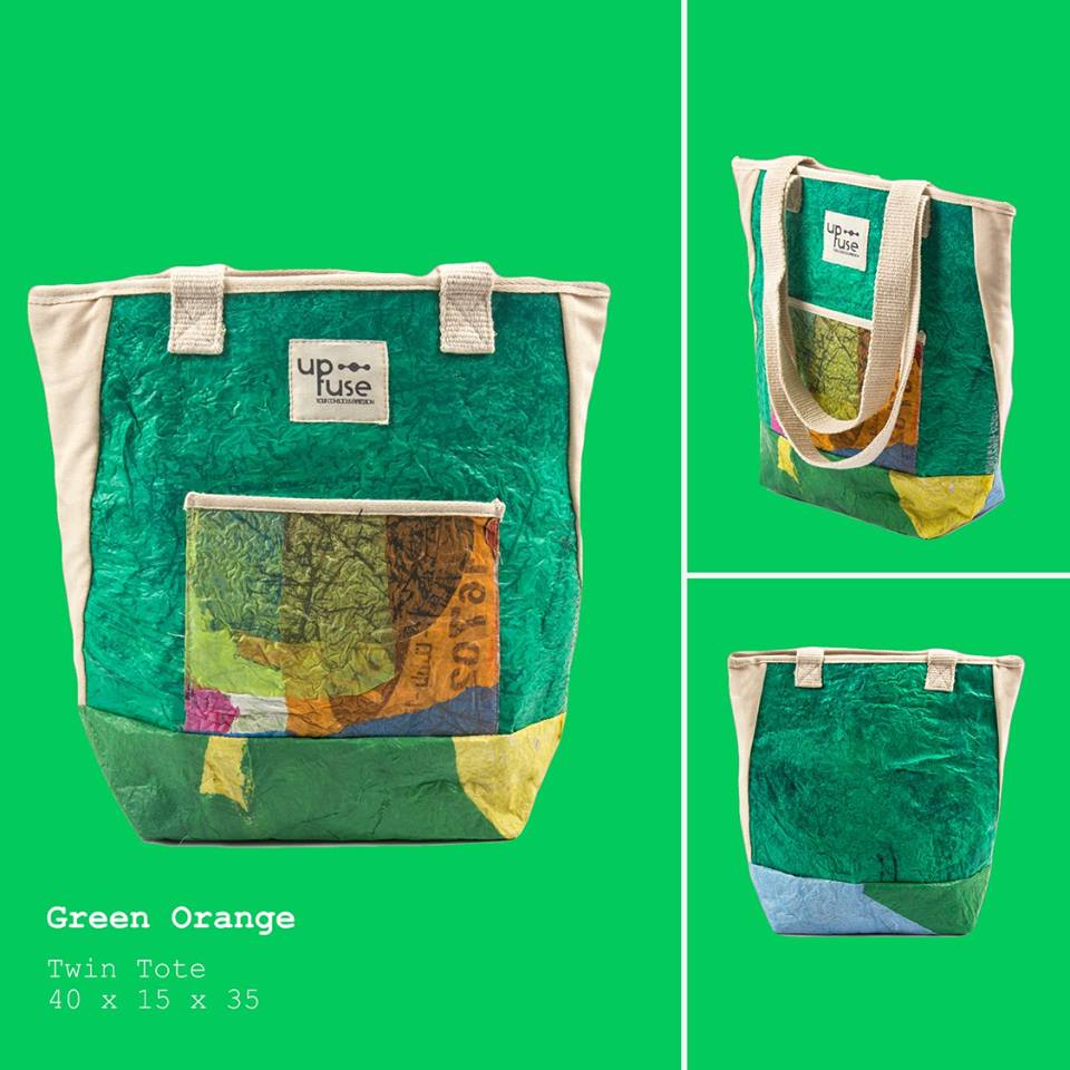 Fair Trade Recycled Plastic Purse.