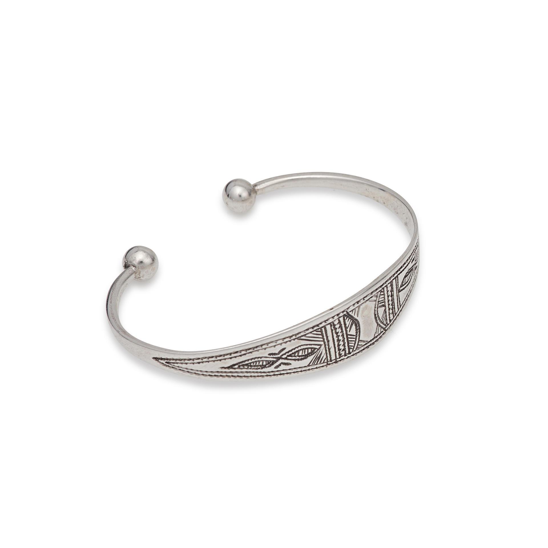 Bijoux Argent Noircis : Bracelet touareg du niger en argent atta gundara