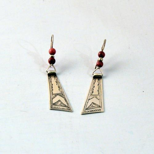 Tuareg - earrings - pure silver - handmade - Tuareg Design - Niger - Gundara