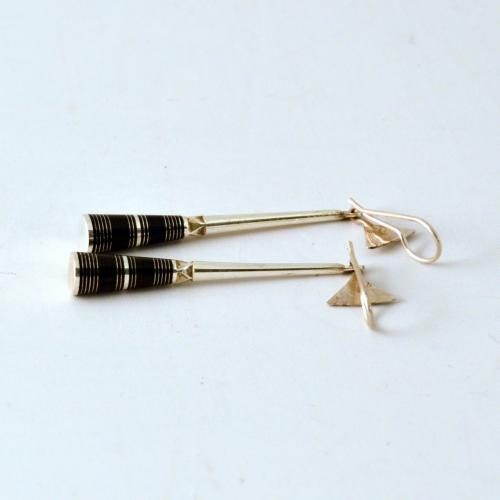 Handmade silver Tuareg earrings - fair trade from Niger - traditional Tuerag jewelry - Gundara