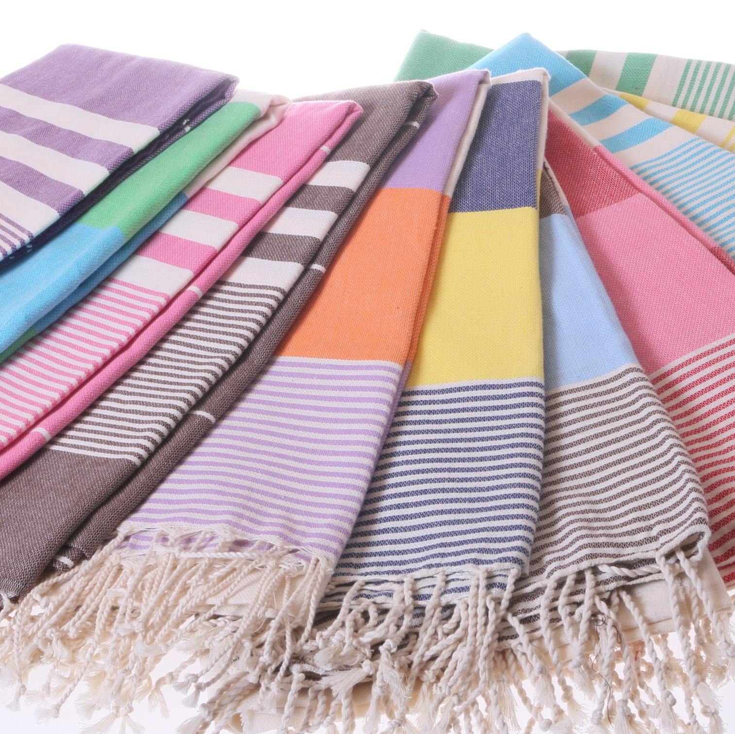 Colourful Cotton Beach Towels And