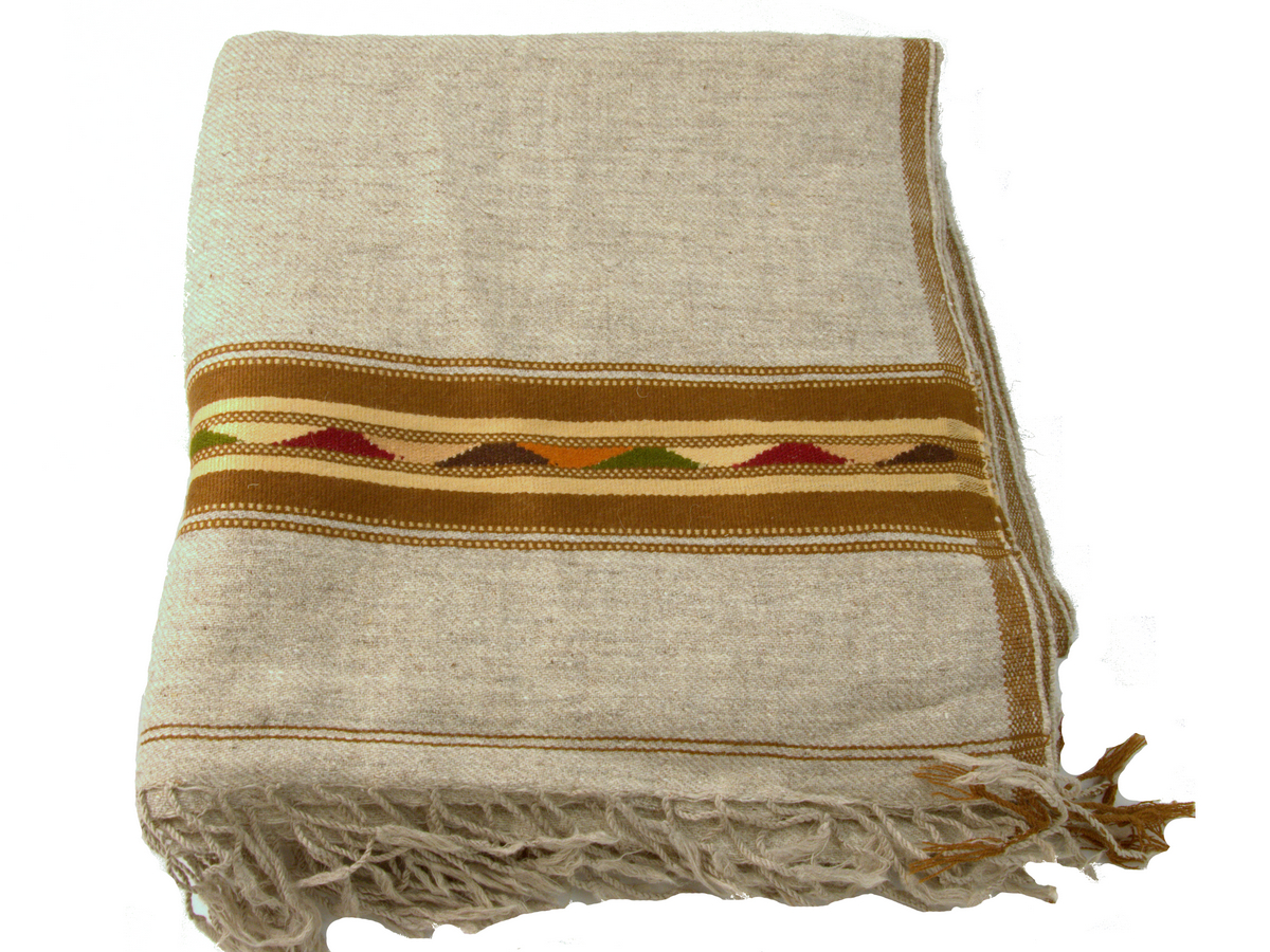 plaid gris an laine douce de la vall e de swat pakistan. Black Bedroom Furniture Sets. Home Design Ideas