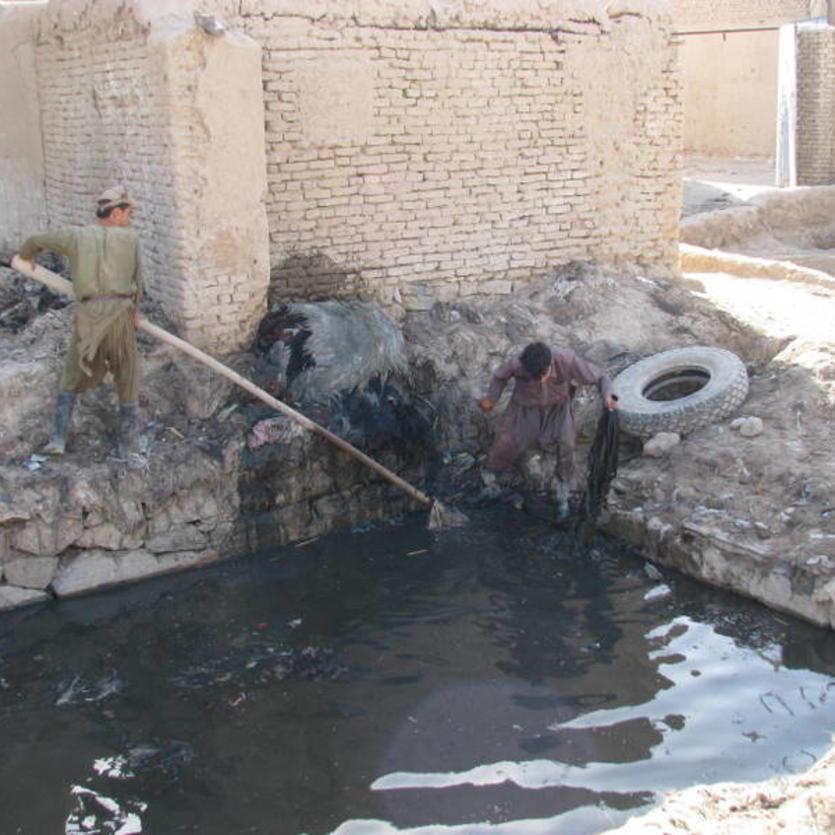 Gundara - Leather tanning in Khulm, Northern Afghanistan - step 1