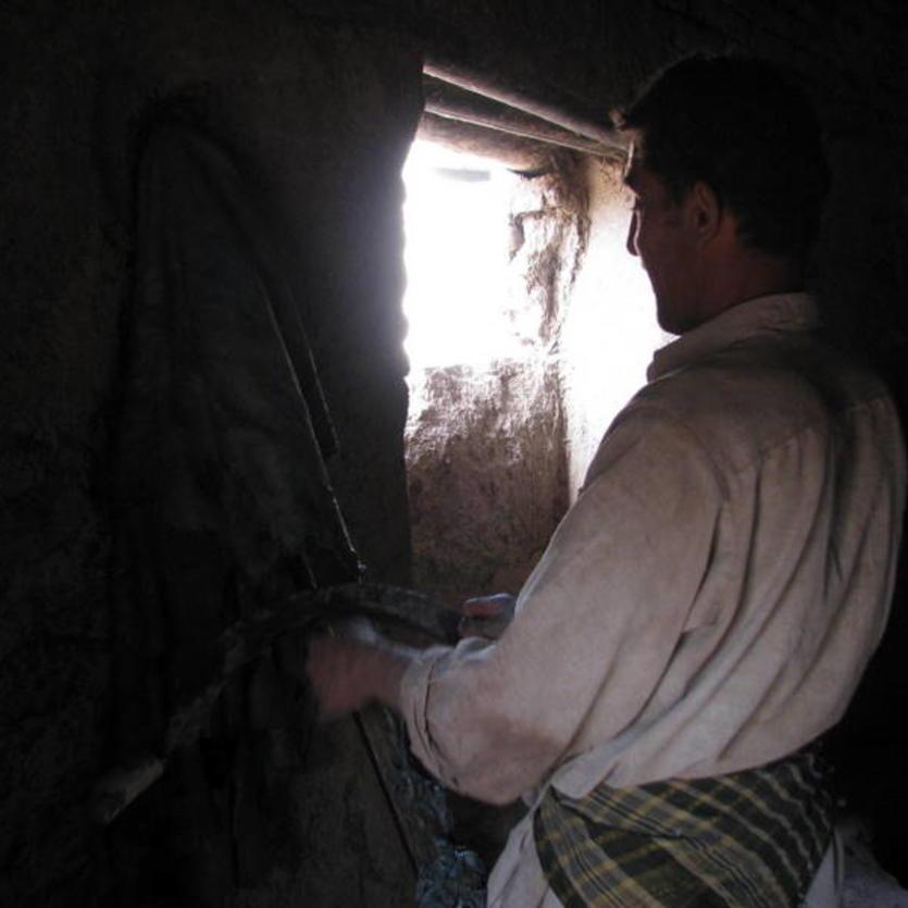 Gundara - Leather tanning in Khulm, Northern Afghanistan - step 4