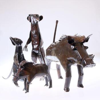 Upcycling Tiere aus Simbabwe