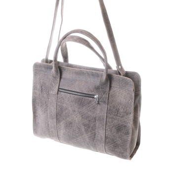 Gundara - amazing grey-scratch handbag - fair - handmade in Ethiopia