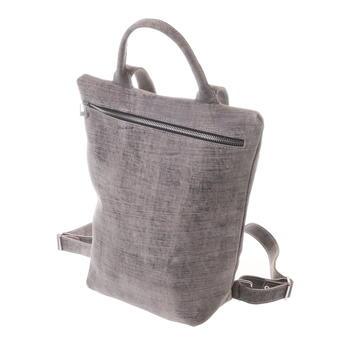 Gundara - fairer Lederrucksack - handgemacht - grau-scratch Design aus Äthiopien