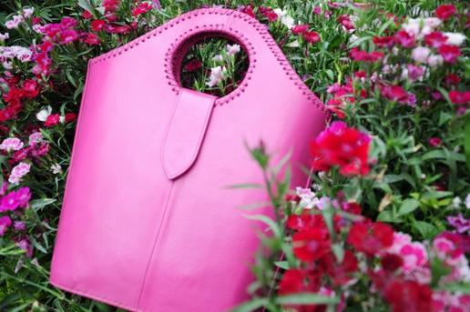 Gundara - Einkaufstasche Pink - Shopping-Tasche aus pinkem Leder