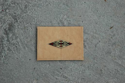 Gundara - Passport Cover - leather and embroidery