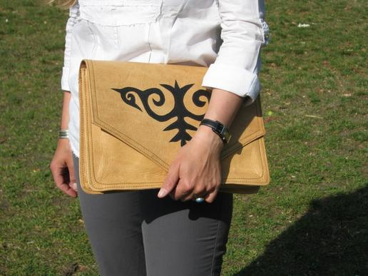 Gundara - Kyrgyz Docs to Go - document holder - made in Afghanistan - leather