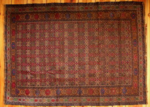 Beautiful woolen Herati rug - Gundara