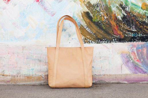 sac de course en vrai cuir - Missy Simple - Gundara