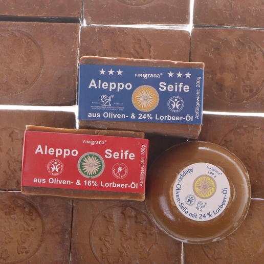 aleppo soap with 16% or 24% laurel oil