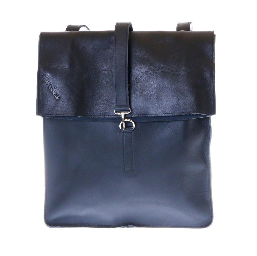 backpack leather black