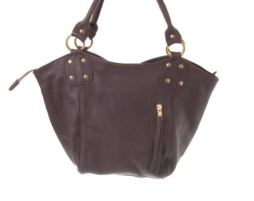 Mini Bucket - Chocolate Colour Fair Trade Leather Bag