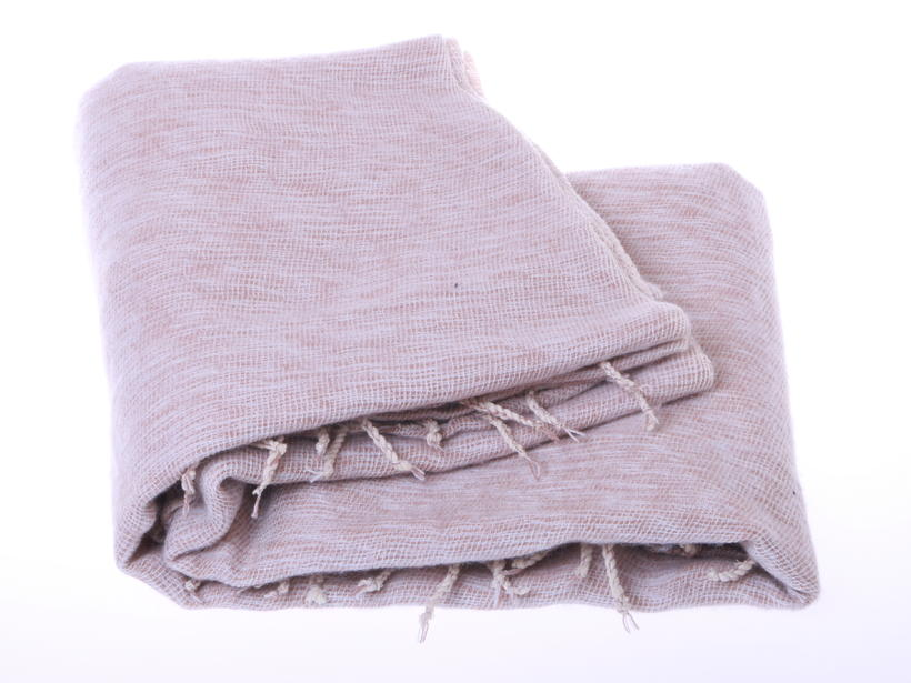 Handwoven beige colour plaid from Nepal