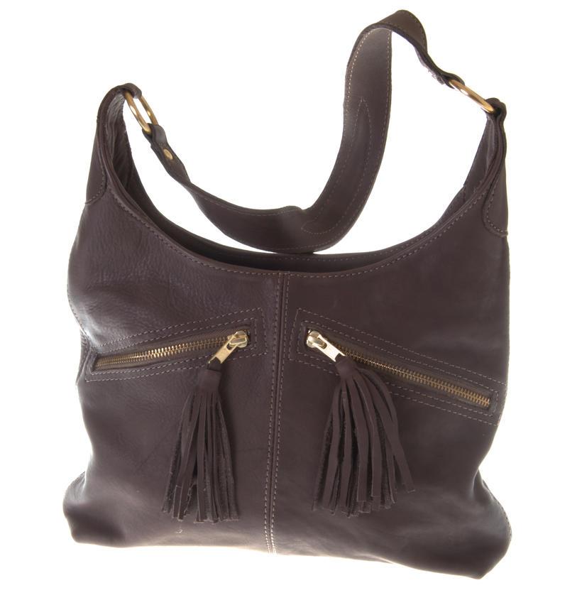 Slouch brown shoulder bag by jackal and hide