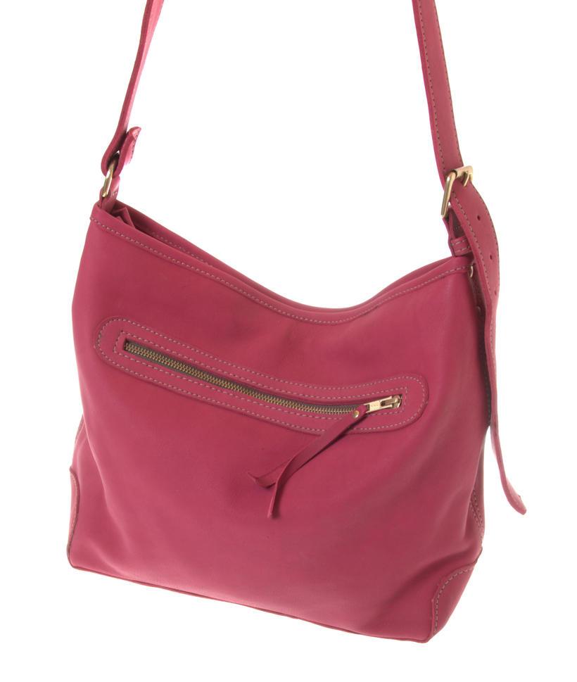 Zamshopper red colour fair trade leather bag