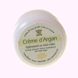 crème visage à l'huile d'argan biologique coopérative Marjana