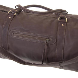 Brown leather travel bag from Zambia