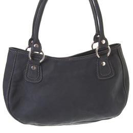 fida zipper closed bag in black leather