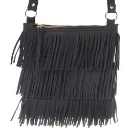 Fringe - Small shoulder bag - Black Colour - Jackal and Hide