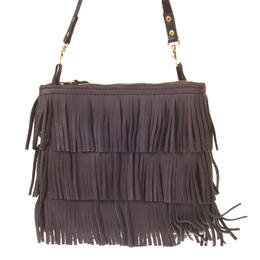 Fringes - Brown leather bag