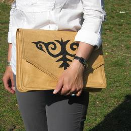 Gundara - Kyrgyz Docs to Go - document holder - made in Afghanistan - leather
