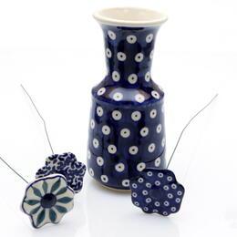 Vase bleu de Boleslawiec