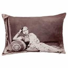 Neeru Kumar - Indian design cushion cover - relaxing woman - Gundara