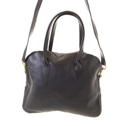Black handbag with a strap