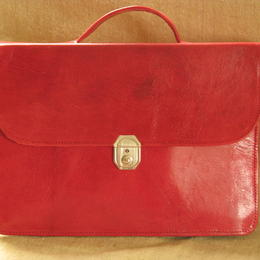 Gundara - genuine leather - briefcase - red - fair trade - Burkina Faso