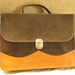 Gundara - genuine leather - briefcase - fair trade - Burkina Faso - brown