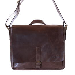Gundara - shoulder bag - genuine leather laptop bag - handmade in Ethiopia