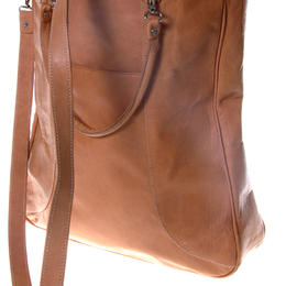 Natural Leather Shoulder Bag Conni - Handmade in Afghanistan