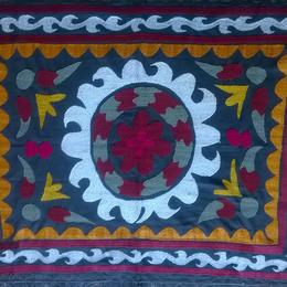 Gundara - handmade antique souzani - wall hanging - from Tajikistan