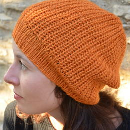 hecho n peru - baby alpaca - orange - handmade - fair trade from Peru