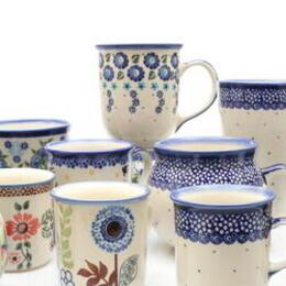 Handgemachte Tassen und Becher aus Bunzlau in Niederschlesien
