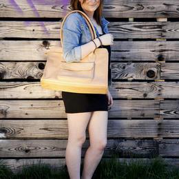 Lucia leather handbag - photo by Ulrika Walmark