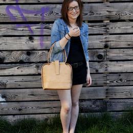 Mila - handgemachte Ledertasche - Vintage-Stil - natürlich gegerbtes Leder
