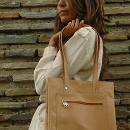 Natural leather shopping bag - Gundara