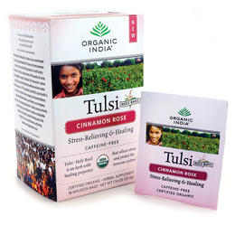 Organic India - Tulsi tea - Cinnamon Rose - caffeine-free  - stress-relieving - lifting your mood