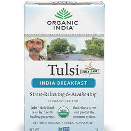 Organic India - Tulsi tea - Breakfast Tea - caffeine-free  - stress-relieving - lifting your mood