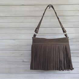 Poncho leather handbag