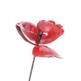 upcycling metal poppy flower by shona art