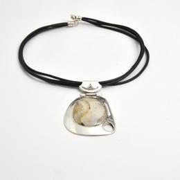 Tuareg-Amulett aus Achat und Silber