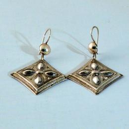 Traditional Tiro Tuareg silver earrings - Tuareg jewelry - fair and handmade - Gundara
